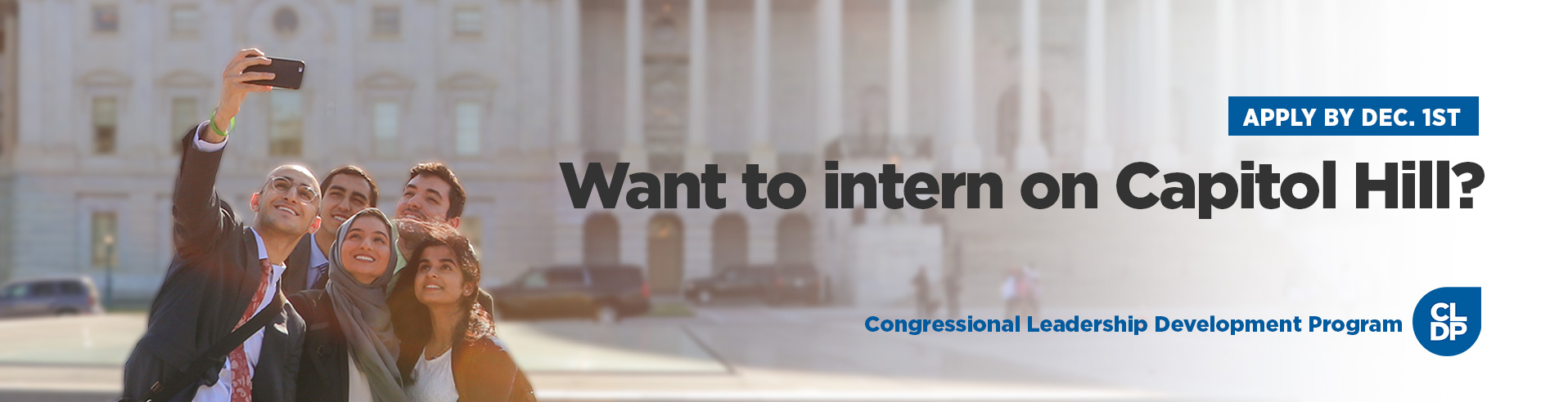 Apply for our Congressional Leadership Development Program