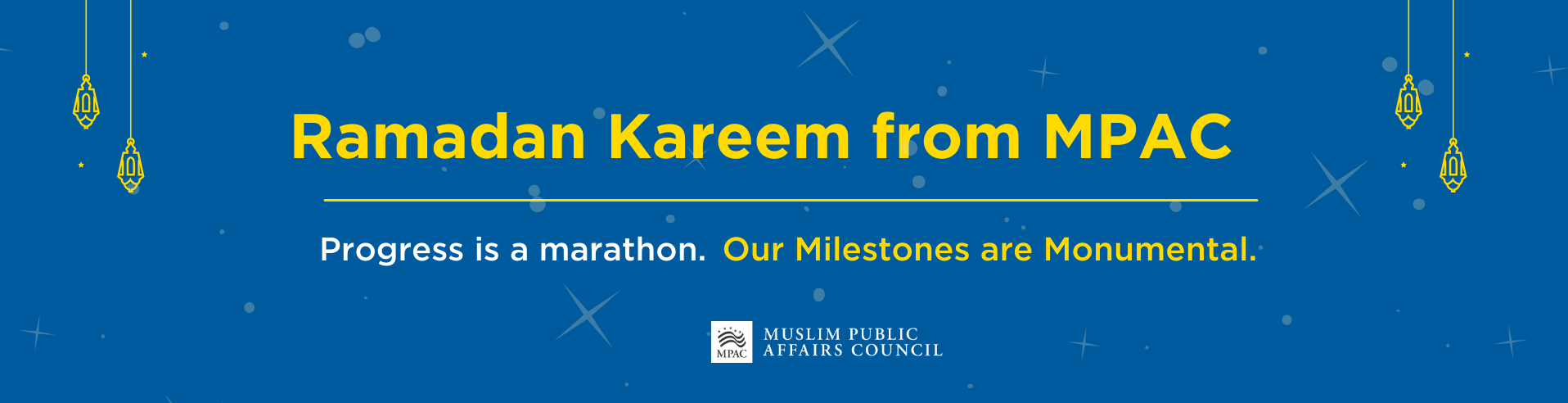 Progress is a Marathon: Donate to MPAC this Ramadan