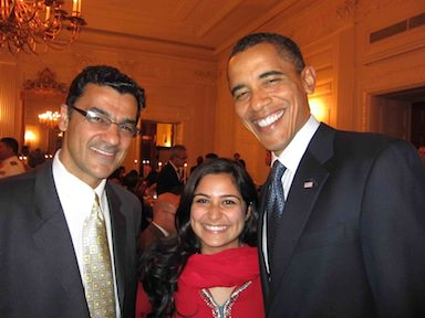 MPAC President Salam Al-Marayati and MPAC-DC intern Saaliha <br />Khan attended a White House iftar hosted by President Obama