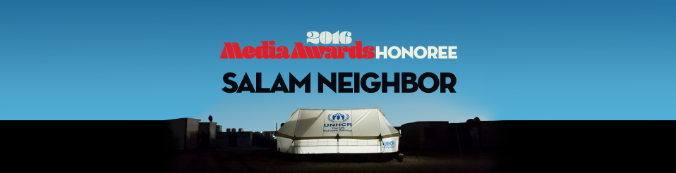 Meet our Media Awards honoree - Salam Neighbor